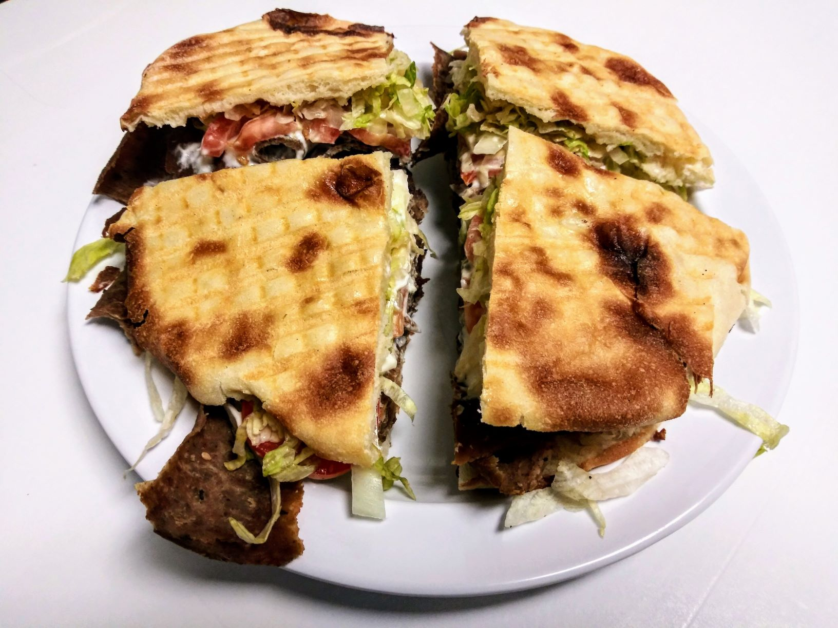 Large Doner Kebab Sandwich (Beef & Lamb or Chicken)
